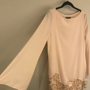 Nude Marciano dress with amazing sleeves